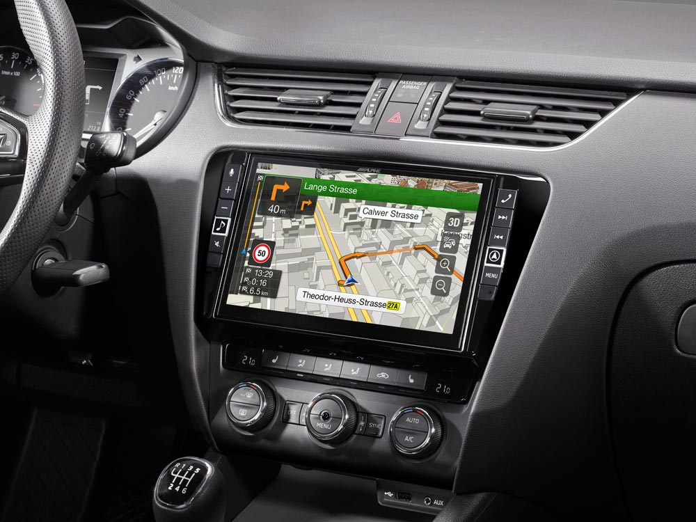 "9"" Touch Screen Navigation for Skoda Octavia 3 with TomTom"