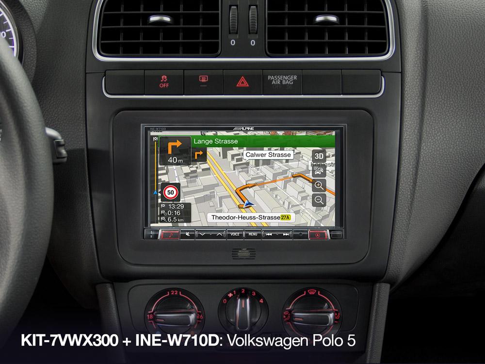 7-inch Installation Kit for Volkswagen platforms (MIB-PQ/Golf VI