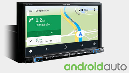 Online Navigation with Android Auto - iLX-702D