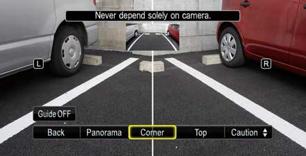 Multi-View Rear Camera HCE-C252RD for Audi Q5 - Multi-view: split screen provides sharp images of left and right rear.