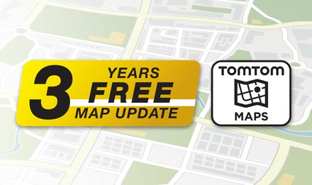 TomTom Maps with 3 Years Free-of-charge updates - X902D-DU
