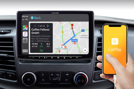 INE-F904TRA - Online Navigation with Apple CarPlay