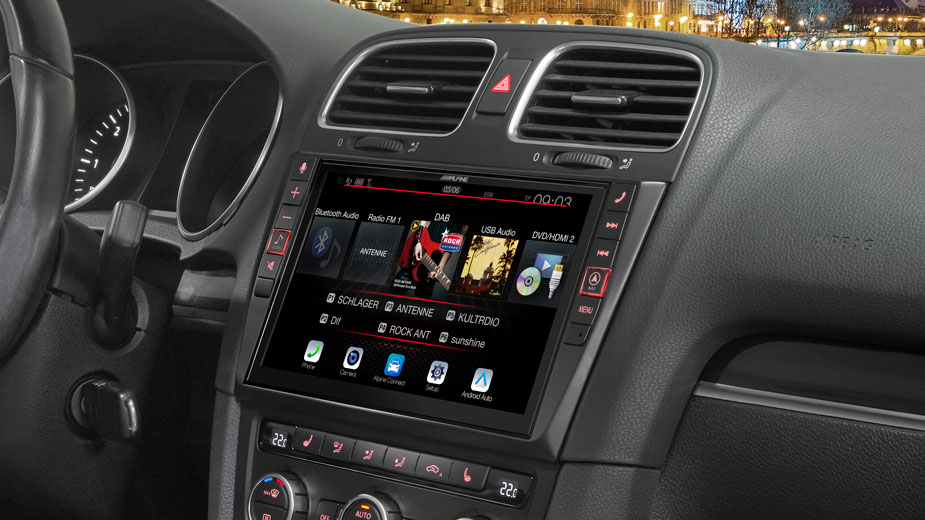 Alpine Style Navigation Designed for Volkswagen Golf 6 - X903D-G6