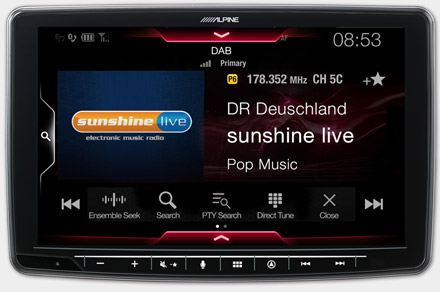 INE-F904T6 - Built-in DAB+ Digital Radio