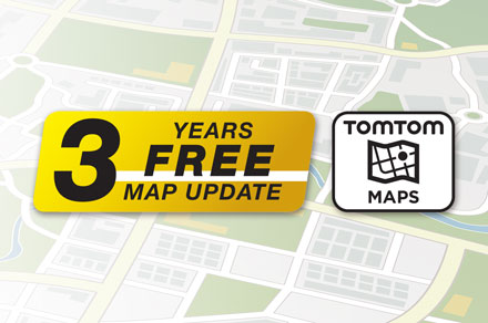 3 Years Free-Of-Charge Map Updates - INE-F904T6